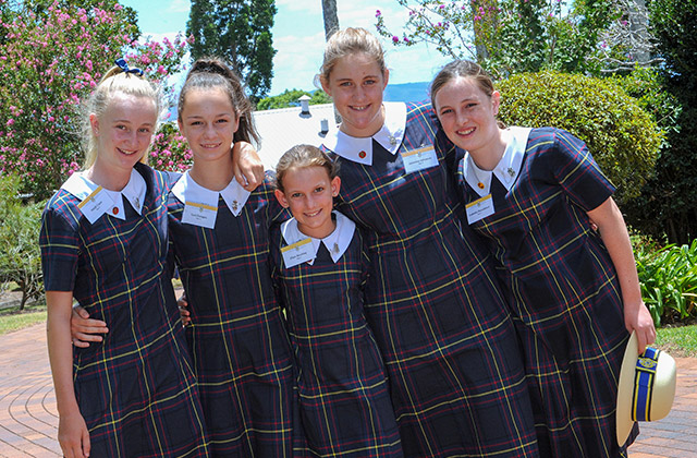Students at Fairholme College Toowoomba